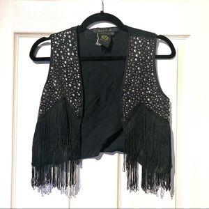 Jackets & Blazers - Luis De Paris Stud Fringe Vest